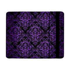 Damask1 Black Marble & Purple Brushed Metal (r) Samsung Galaxy Tab Pro 8 4  Flip Case by trendistuff