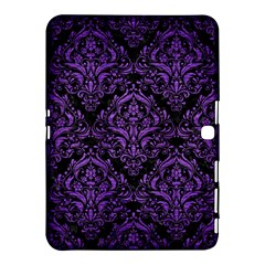 Damask1 Black Marble & Purple Brushed Metal (r) Samsung Galaxy Tab 4 (10 1 ) Hardshell Case  by trendistuff