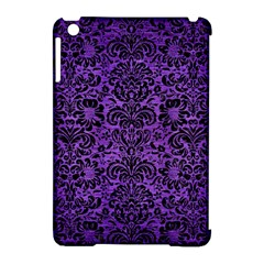Damask2 Black Marble & Purple Brushed Metal Apple Ipad Mini Hardshell Case (compatible With Smart Cover) by trendistuff