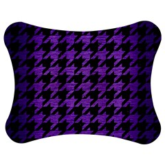Houndstooth1 Black Marble & Purple Brushed Metal Jigsaw Puzzle Photo Stand (bow) by trendistuff
