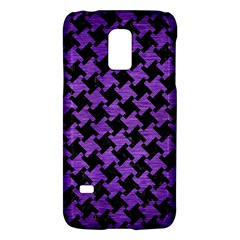 Houndstooth2 Black Marble & Purple Brushed Metal Galaxy S5 Mini by trendistuff