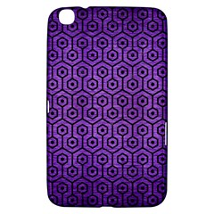 Hexagon1 Black Marble & Purple Brushed Metal Samsung Galaxy Tab 3 (8 ) T3100 Hardshell Case  by trendistuff