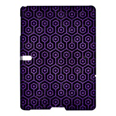 Hexagon1 Black Marble & Purple Brushed Metal (r) Samsung Galaxy Tab S (10 5 ) Hardshell Case  by trendistuff