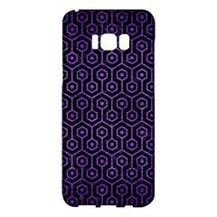 Hexagon1 Black Marble & Purple Brushed Metal (r) Samsung Galaxy S8 Plus Hardshell Case