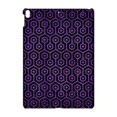 Hexagon1 Black Marble & Purple Brushed Metal (r) Apple Ipad Pro 10 5   Hardshell Case by trendistuff