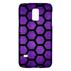 Hexagon2 Black Marble & Purple Brushed Metal Galaxy S5 Mini by trendistuff