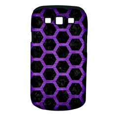 Hexagon2 Black Marble & Purple Brushed Metal (r) Samsung Galaxy S Iii Classic Hardshell Case (pc+silicone) by trendistuff