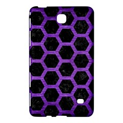 Hexagon2 Black Marble & Purple Brushed Metal (r) Samsung Galaxy Tab 4 (8 ) Hardshell Case  by trendistuff