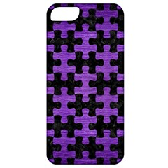 Puzzle1 Black Marble & Purple Brushed Metal Apple Iphone 5 Classic Hardshell Case by trendistuff