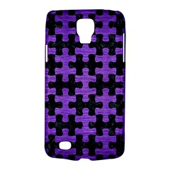 Puzzle1 Black Marble & Purple Brushed Metal Galaxy S4 Active by trendistuff