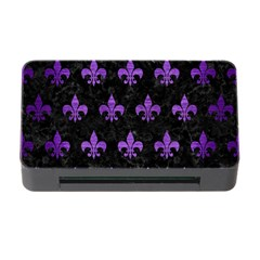 Royal1 Black Marble & Purple Brushed Metal Memory Card Reader With Cf by trendistuff