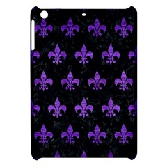 Royal1 Black Marble & Purple Brushed Metal Apple Ipad Mini Hardshell Case by trendistuff