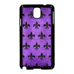 Royal1 Black Marble & Purple Brushed Metal (r) Samsung Galaxy Note 3 Neo Hardshell Case (black) by trendistuff