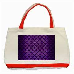 Scales1 Black Marble & Purple Brushed Metal Classic Tote Bag (red) by trendistuff
