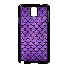 Scales1 Black Marble & Purple Brushed Metal Samsung Galaxy Note 3 Neo Hardshell Case (black) by trendistuff