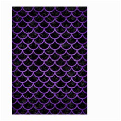 Scales1 Black Marble & Purple Brushed Metal (r) Small Garden Flag (two Sides)