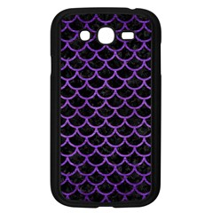 Scales1 Black Marble & Purple Brushed Metal (r) Samsung Galaxy Grand Duos I9082 Case (black) by trendistuff