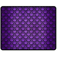 Scales2 Black Marble & Purple Brushed Metal Double Sided Fleece Blanket (medium)