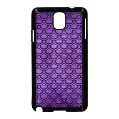 Scales2 Black Marble & Purple Brushed Metal Samsung Galaxy Note 3 Neo Hardshell Case (black) by trendistuff