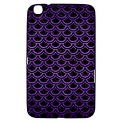 Scales2 Black Marble & Purple Brushed Metal (r) Samsung Galaxy Tab 3 (8 ) T3100 Hardshell Case  by trendistuff