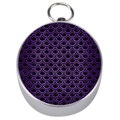 Scales2 Black Marble & Purple Brushed Metal (r) Silver Compasses by trendistuff