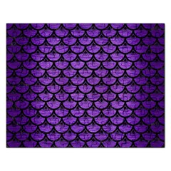 Scales3 Black Marble & Purple Brushed Metal Rectangular Jigsaw Puzzl