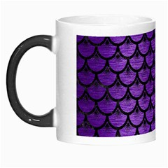 Scales3 Black Marble & Purple Brushed Metal Morph Mugs by trendistuff