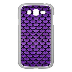 Scales3 Black Marble & Purple Brushed Metal Samsung Galaxy Grand Duos I9082 Case (white) by trendistuff