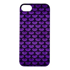 Scales3 Black Marble & Purple Brushed Metal Apple Iphone 5s/ Se Hardshell Case by trendistuff