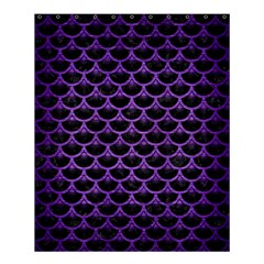 Scales3 Black Marble & Purple Brushed Metal (r) Shower Curtain 60  X 72  (medium)  by trendistuff