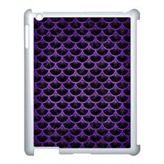 Scales3 Black Marble & Purple Brushed Metal (r) Apple Ipad 3/4 Case (white) by trendistuff