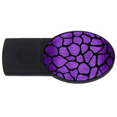 Skin1 Black Marble & Purple Brushed Metal (r) Usb Flash Drive Oval (2 Gb) by trendistuff
