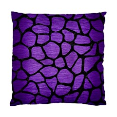 Skin1 Black Marble & Purple Brushed Metal (r) Standard Cushion Case (two Sides) by trendistuff