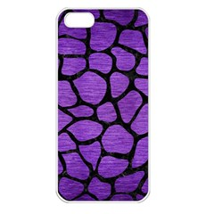 Skin1 Black Marble & Purple Brushed Metal (r) Apple Iphone 5 Seamless Case (white) by trendistuff