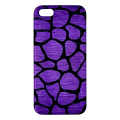 Skin1 Black Marble & Purple Brushed Metal (r) Iphone 5s/ Se Premium Hardshell Case by trendistuff