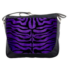 Skin2 Black Marble & Purple Brushed Metal Messenger Bags by trendistuff