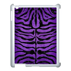 Skin2 Black Marble & Purple Brushed Metal Apple Ipad 3/4 Case (white) by trendistuff