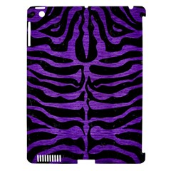 Skin2 Black Marble & Purple Brushed Metal (r) Apple Ipad 3/4 Hardshell Case (compatible With Smart Cover) by trendistuff