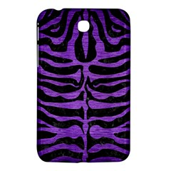 Skin2 Black Marble & Purple Brushed Metal (r) Samsung Galaxy Tab 3 (7 ) P3200 Hardshell Case  by trendistuff