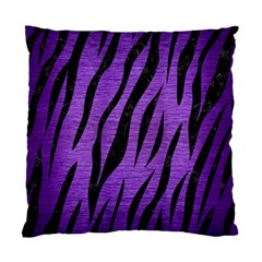 Skin3 Black Marble & Purple Brushed Metal Standard Cushion Case (two Sides) by trendistuff