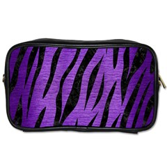 Skin3 Black Marble & Purple Brushed Metal Toiletries Bags 2 Side by trendistuff