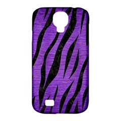 Skin3 Black Marble & Purple Brushed Metal Samsung Galaxy S4 Classic Hardshell Case (pc+silicone) by trendistuff