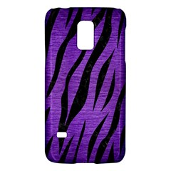 Skin3 Black Marble & Purple Brushed Metal Galaxy S5 Mini by trendistuff
