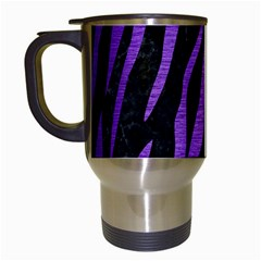 Skin3 Black Marble & Purple Brushed Metal (r) Travel Mugs (white) by trendistuff