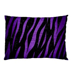 Skin3 Black Marble & Purple Brushed Metal (r) Pillow Case (two Sides) by trendistuff
