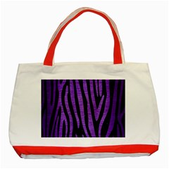 Skin4 Black Marble & Purple Brushed Metal Classic Tote Bag (red) by trendistuff