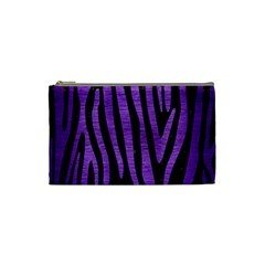 Skin4 Black Marble & Purple Brushed Metal Cosmetic Bag (small)  by trendistuff