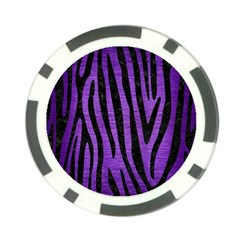 Skin4 Black Marble & Purple Brushed Metal (r) Poker Chip Card Guard (10 Pack) by trendistuff