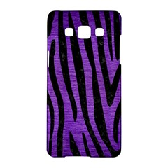 Skin4 Black Marble & Purple Brushed Metal (r) Samsung Galaxy A5 Hardshell Case  by trendistuff