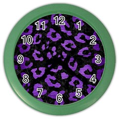 Skin5 Black Marble & Purple Brushed Metal Color Wall Clocks